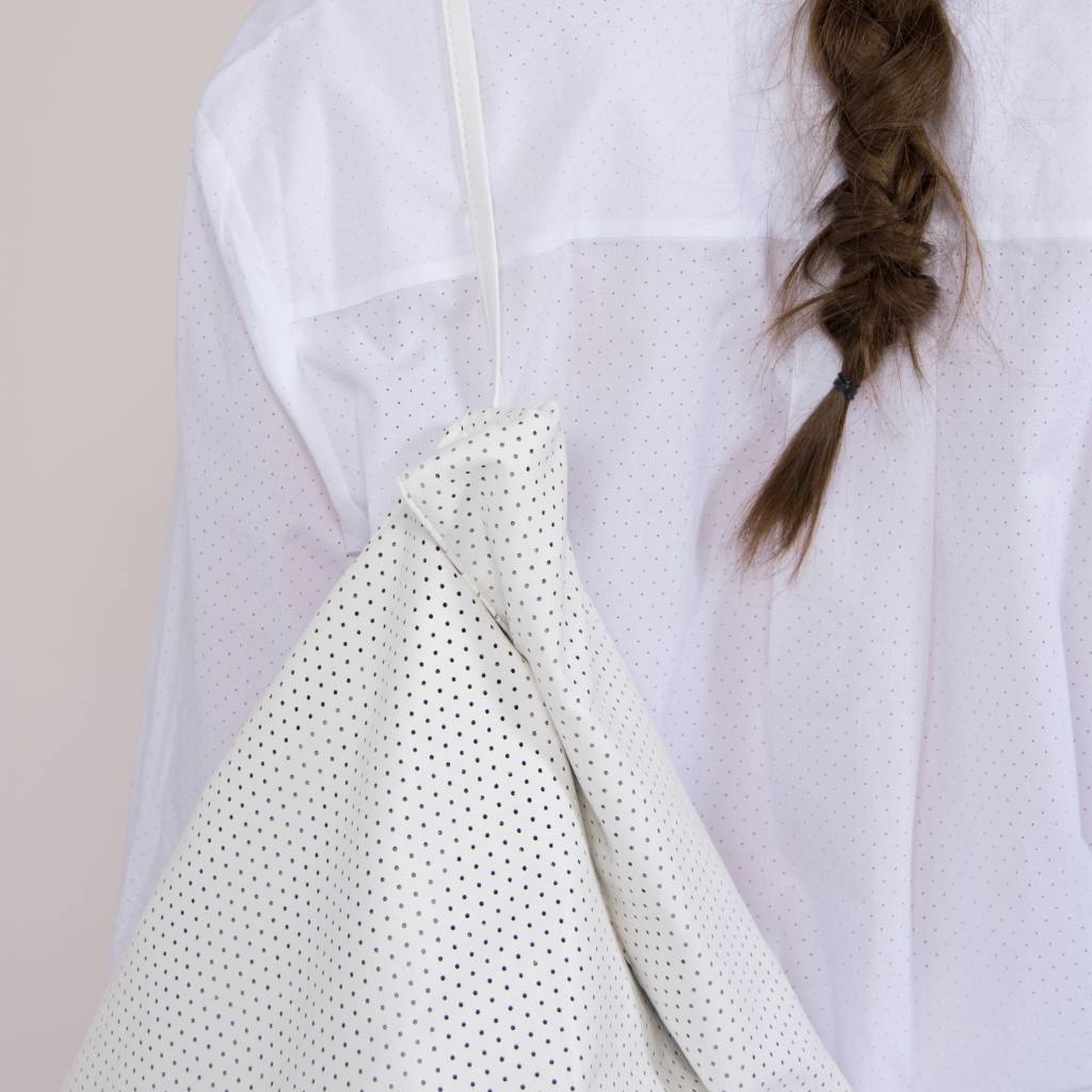 Feel Good Backpack - Perforated White-2