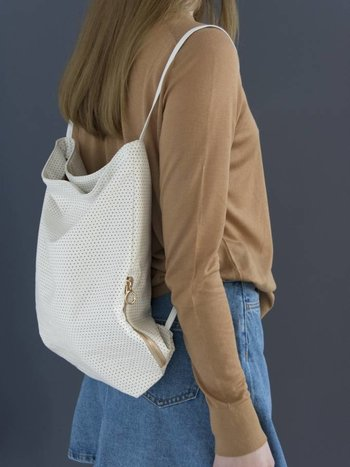 Feel Good Backpack - Perforated White