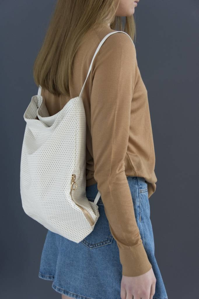 Feel Good Backpack - Perforated White-1