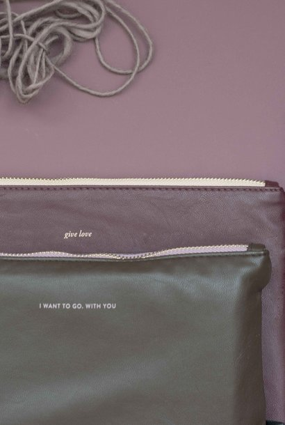Feel Good Pouch- Dark Brown