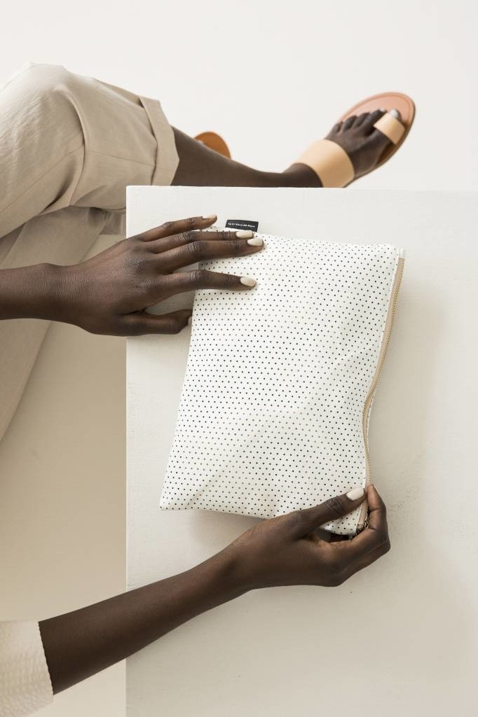 Feel Good Pouch - Perforated White-1