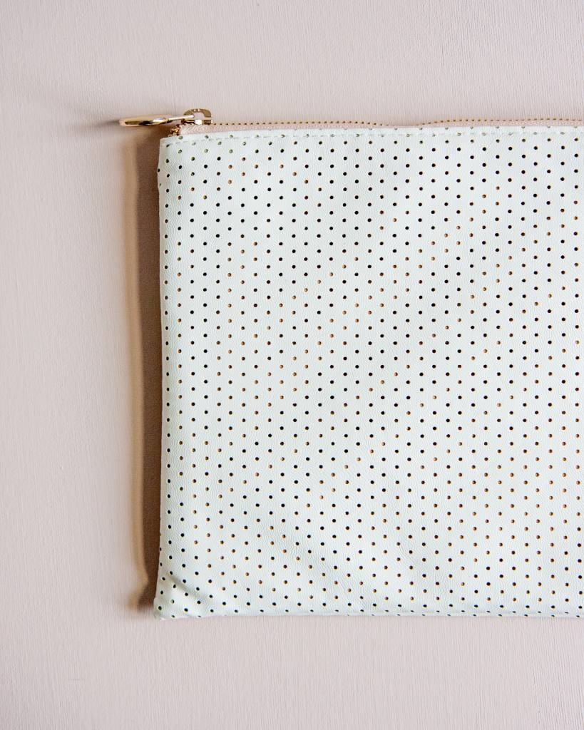 Feel Good Pouch - Perforated White-2