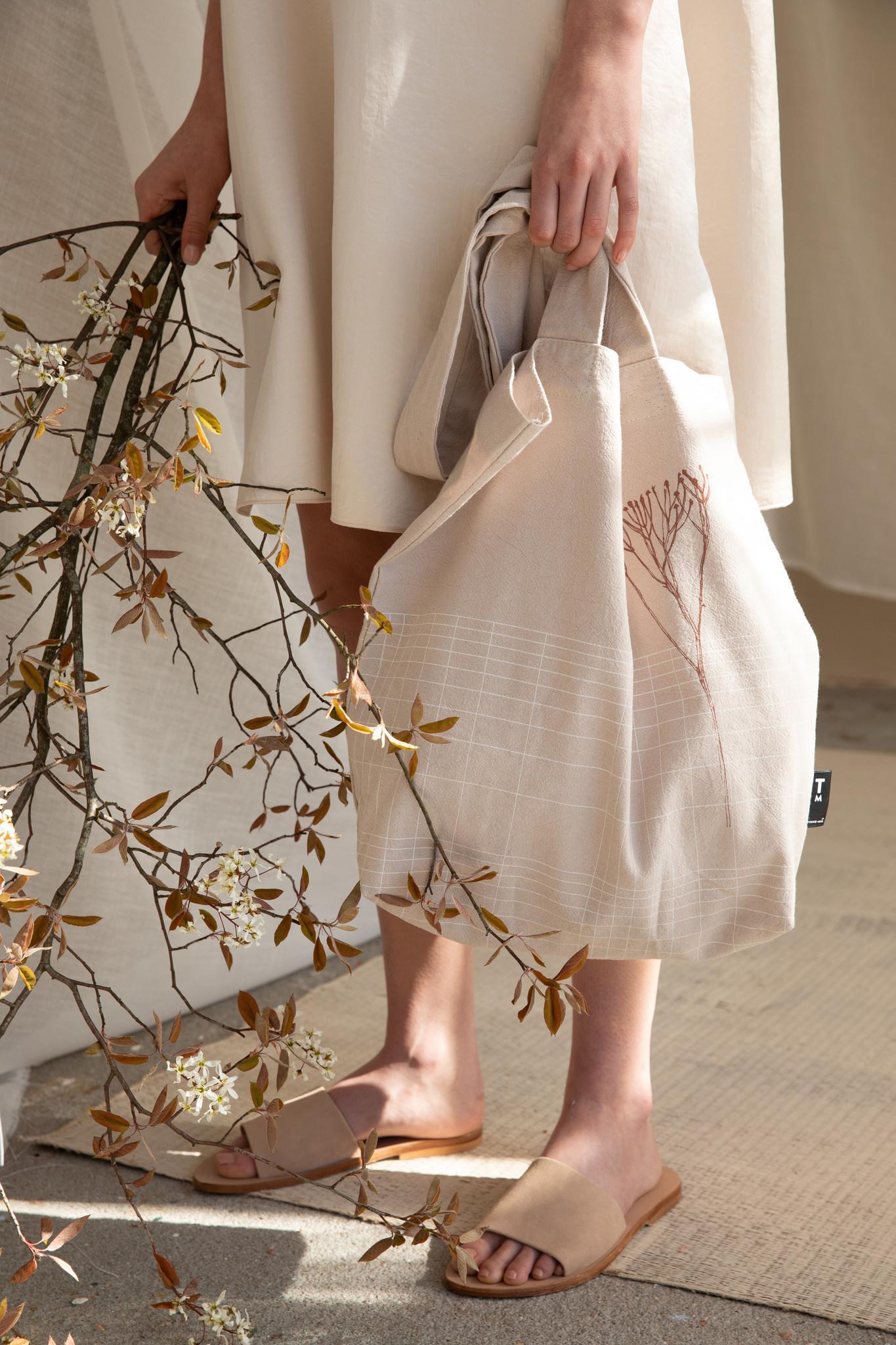F.G. Tote Bag Linen - Eucalyptus-4