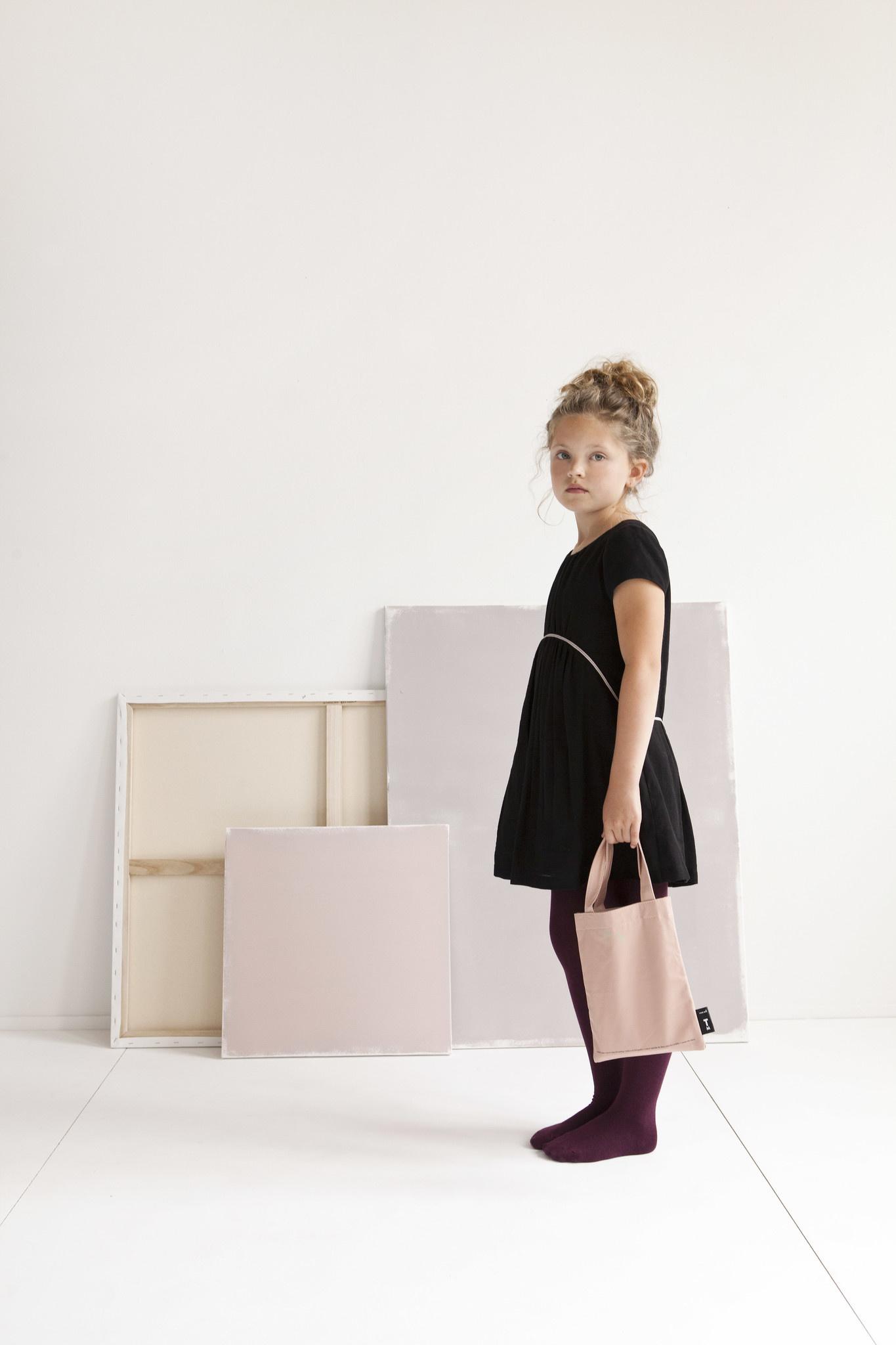 Kids Tote Bag - Pastel Pink-1