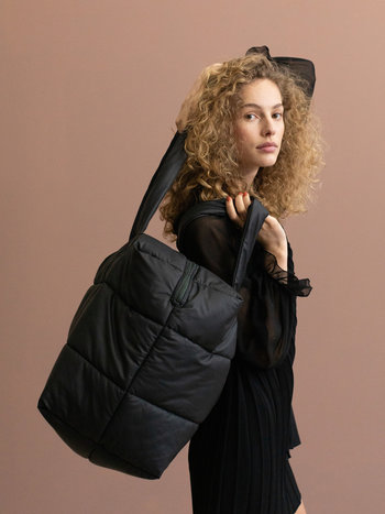 Camill Big Puffy Weekend Bag - Black