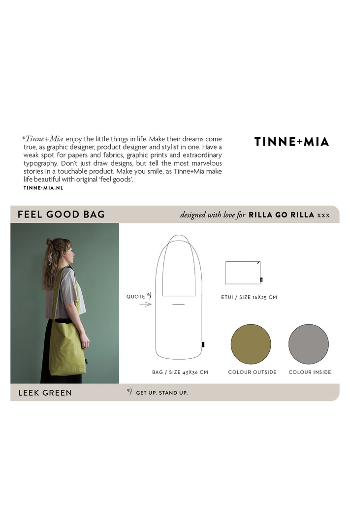 Feel Good Bag - Leek Green | get up. stand up.