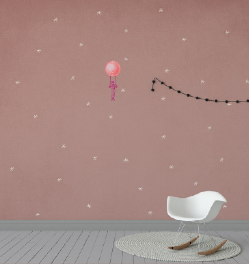 Kids wallpaper Mural - I think I can fly - Starry flight