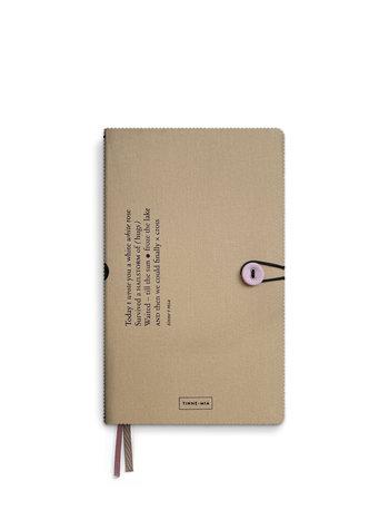 Notebook button - Almond