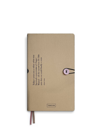 Notitieboek met knoop - Almond
