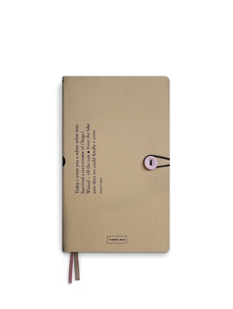 Notebook button - dotted grid / lined / blank - Almond