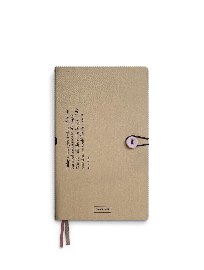 Notitieboek met knoop - dotted grid / gelinieerd / blanco - Almond