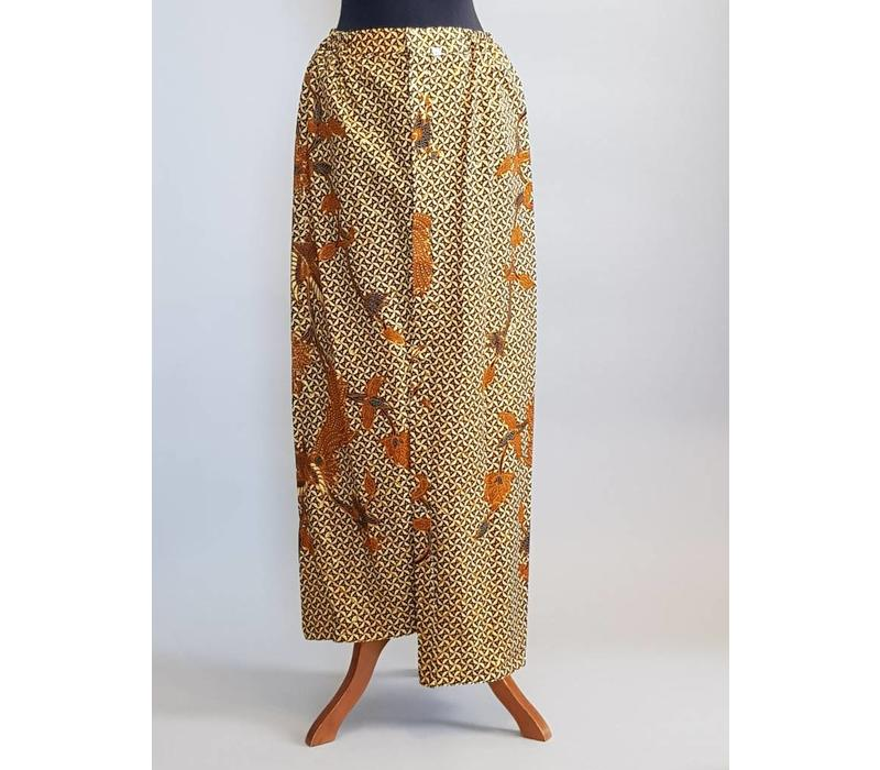 Kebaya glamour turquoise (lang) met bijpassende sarong