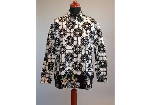 Batik overhemd lange mouw #4342