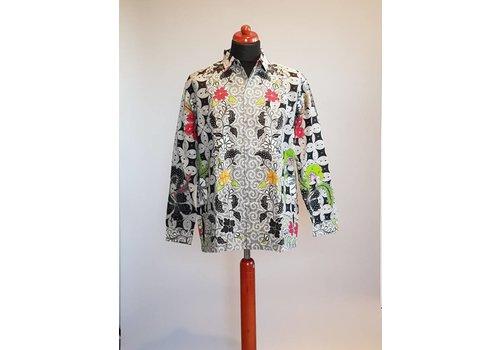 Batik overhemd lange mouw 4152