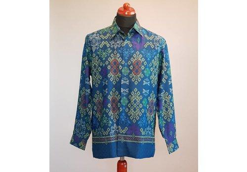 Batik overhemd lange mouw #3232