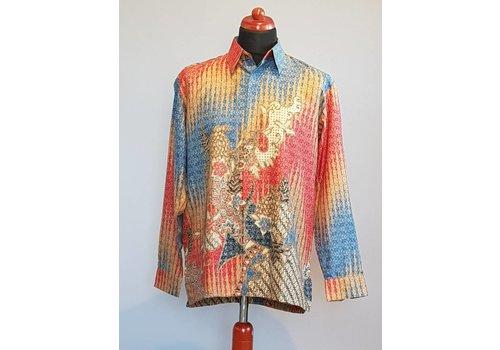 Batik overhemd lange mouw #2328