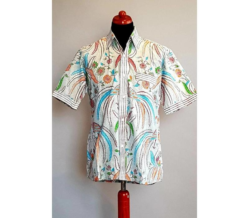 Batik overhemd korte mouw 392
