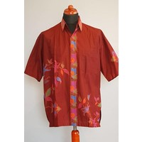 Batik overhemd korte mouw 593