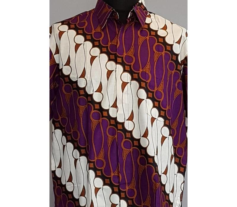 Batik overhemd korte mouw 272