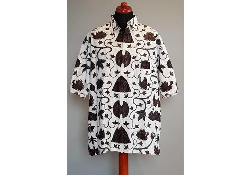 Batik overhemd korte mouw 302