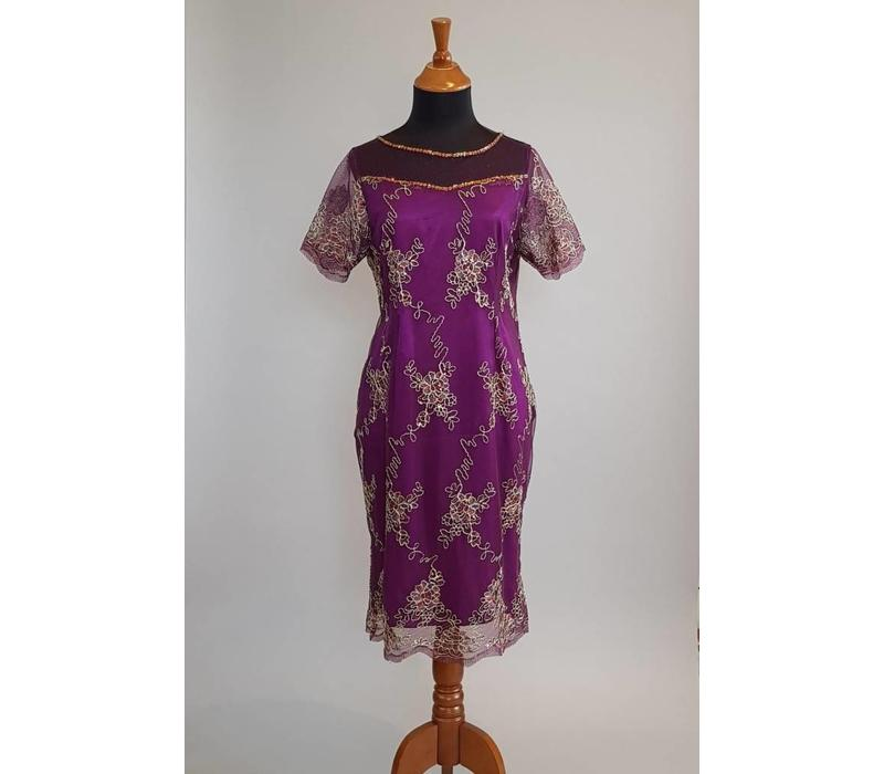 Feest jurk lavender