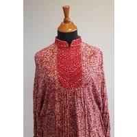 Batik tuniek bordeaux
