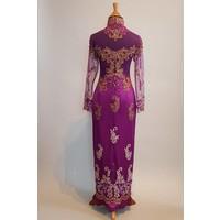 Bruidskebaya lavender met bijpassende satijn rok