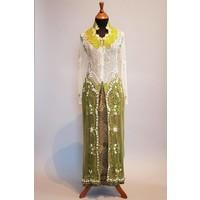 Bruidskebaya olijfgroen met bijpassende sarong