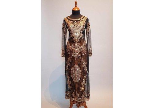 Bruidskebaya elegant  zwart met bijpassende sarong
