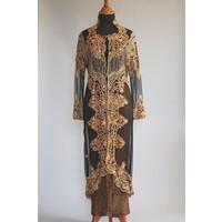 Bruidskebaya zwarte met bijpassende sarong