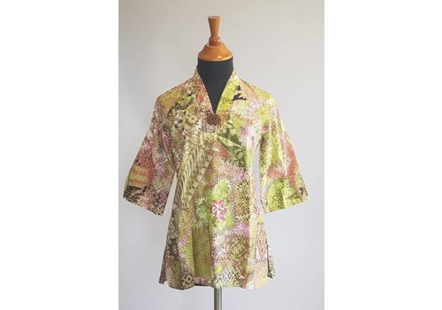 Batik blouse lemon groen