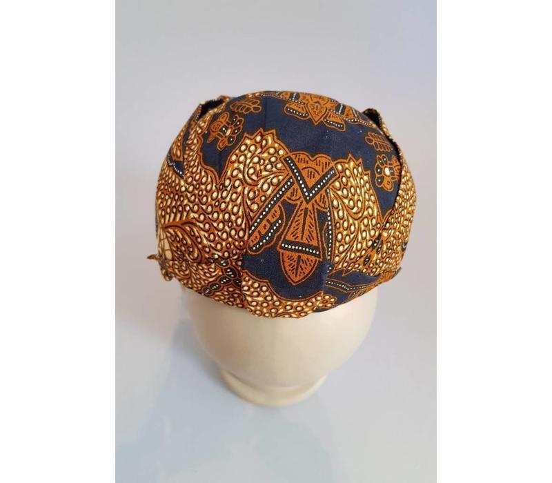 Batik muts donker bruin