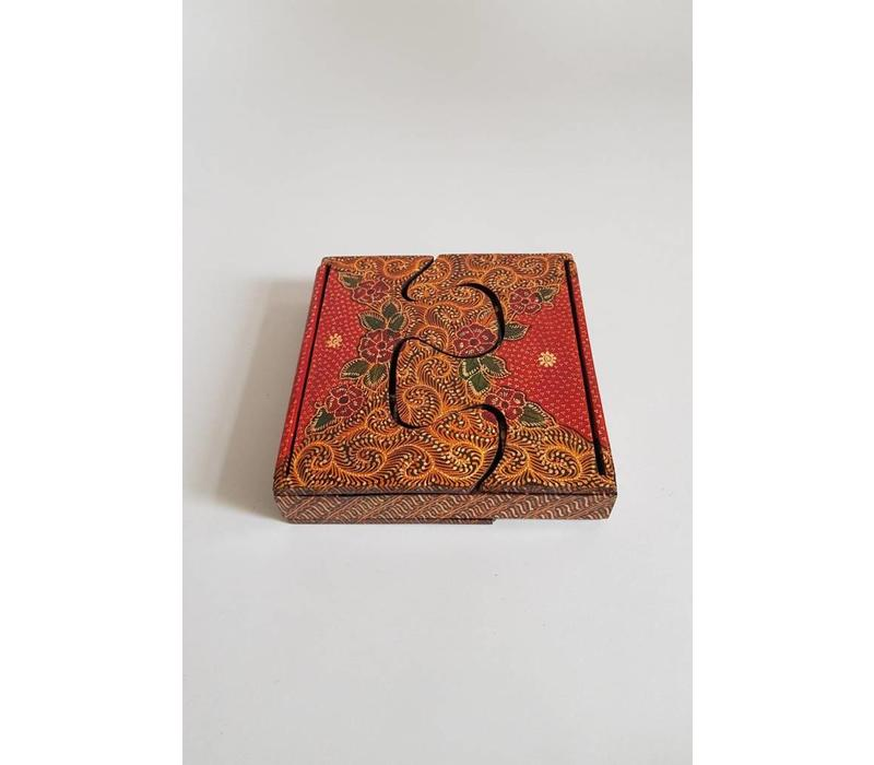 Batik doosje vierkant