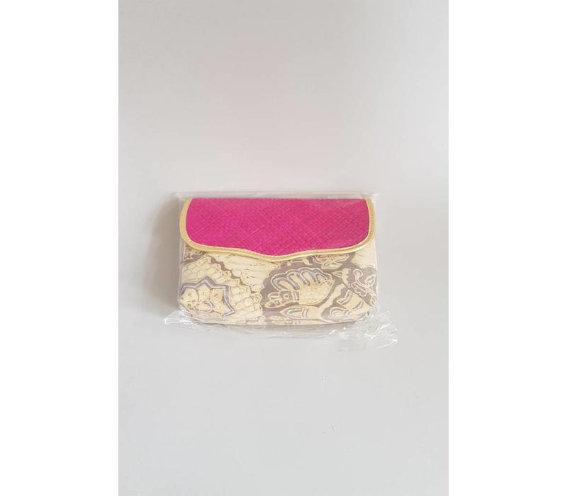 Batik clutch fuchsia