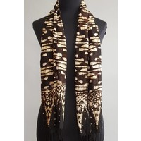 Selendang batik donker bruin