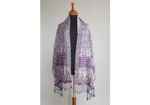 Selendang batik lavender