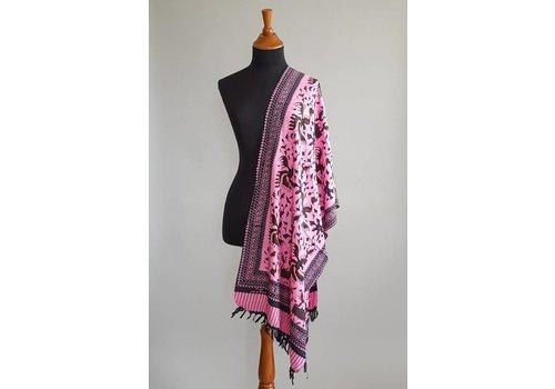 Selendang batik roze