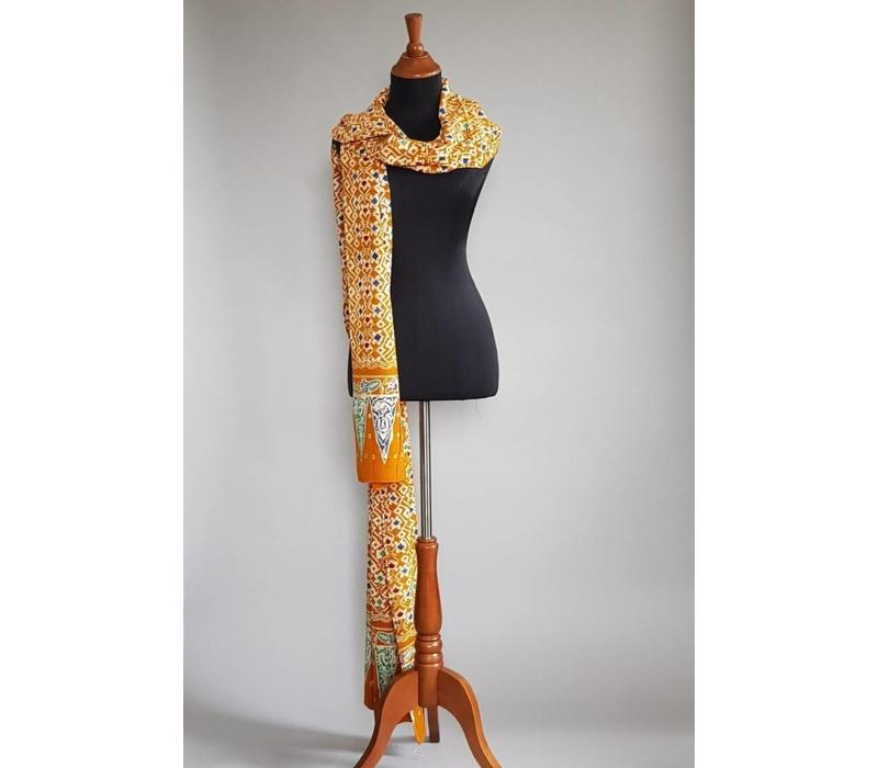 Batik selendang honinggeel