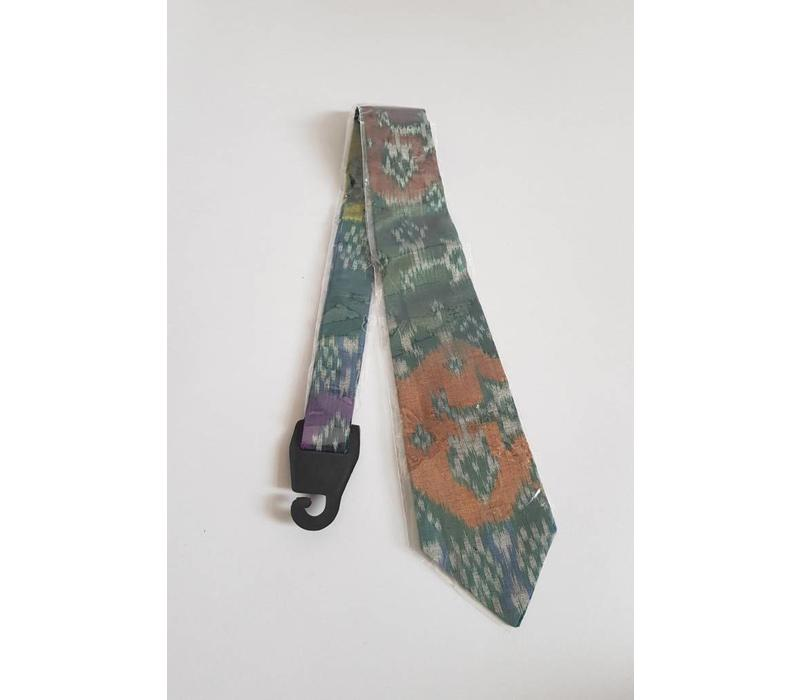 Batik stropdas donker groen