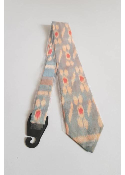 Batik stropdas grijs
