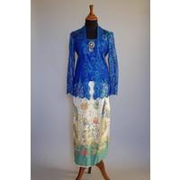 Kebaya turquoise blauw met bijpassende sarong