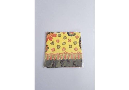 Batik tafelkleed vierkant zwart