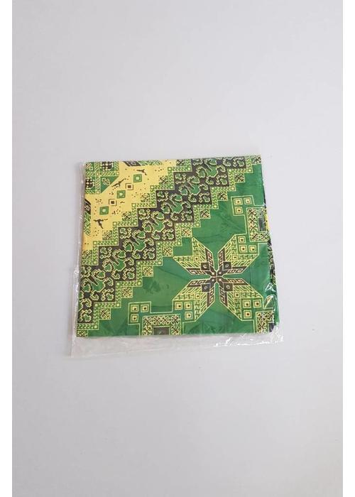 Batik tafelkleed vierkant groen