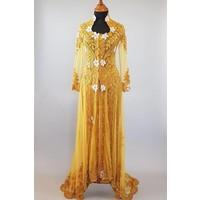 Bruids kebaya glamour goud met bijpassende sarong