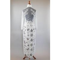 Bruids kebaya white lily met bijpassende sarong
