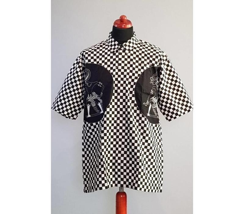 Batik overhemd korte mouw 2982