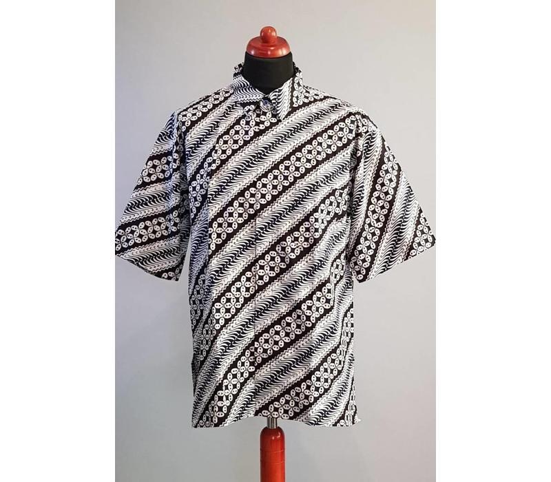 Batik overhemd korte mouw 2984