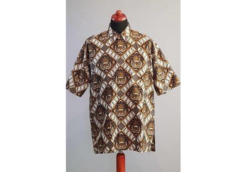 Batik overhemd korte mouw 2985
