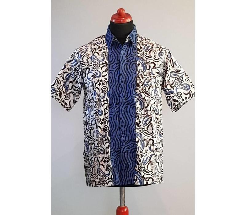 Batik overhemd korte mouw 2989