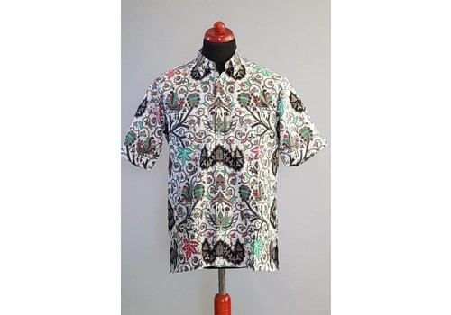 Batik overhemd korte mouw 2990